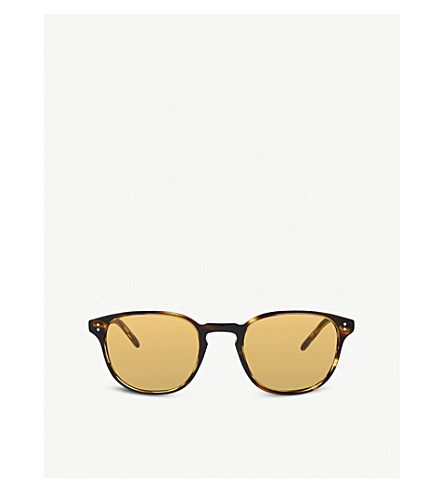 OLIVER PEOPLES Ov5219s Fairmont Sun round frame sunglasses (Brown