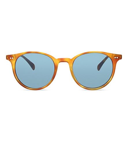 OLIVER PEOPLES Ov5314su Delray Sun round frame sunglasses (Havana