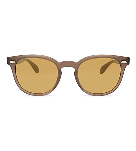 OLIVER PEOPLES Ov5315su Sheldrake Plus round frame sunglasses (Brown