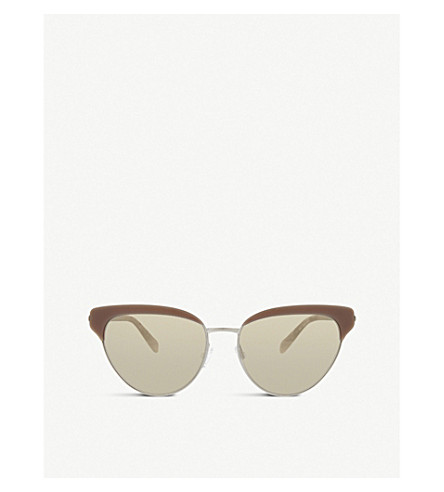 OLIVER PEOPLES Ov1187s Josa 猫眼框架太阳镜 (银色