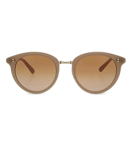 OLIVER PEOPLES Spelman OV5323S round-frame sunglasses (Linen