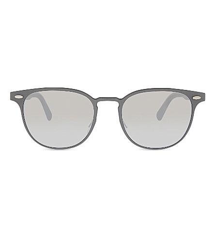 OLIVER PEOPLES Ov1179s Sheldrake Metal round frame sunglasses (Gunmetal