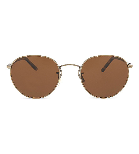 OLIVER PEOPLES OV1203S Hasset round-frame sunglasses (Gold