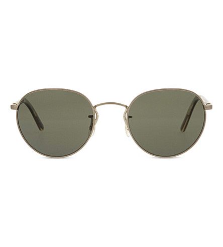 OLIVER PEOPLES OV1203s Hassett round-frame sunglasses (Gold