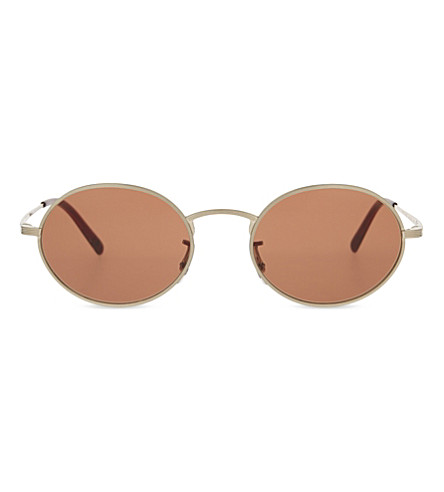 OLIVER PEOPLES OV1207S The Row Empire Suite oval-frame sunglasses (Gold