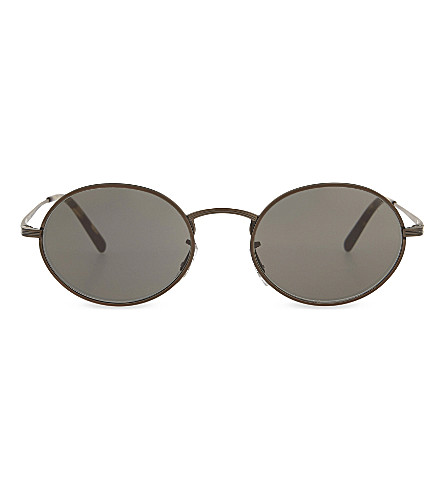 OLIVER PEOPLES OV1207S The Row Empire Suite oval-frame sunglasses (Brown