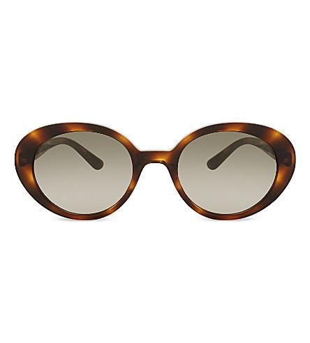 OLIVER PEOPLES Ov5344 The Row oval-frame sunglasses (Havana