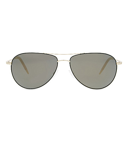 OLIVER PEOPLES OV1002s Benedict aviator sunglasses (Green