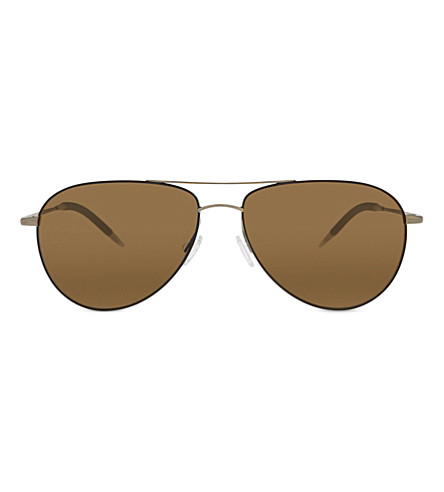 OLIVER PEOPLES OV1002S Benedict aviator sunglasses (Brown