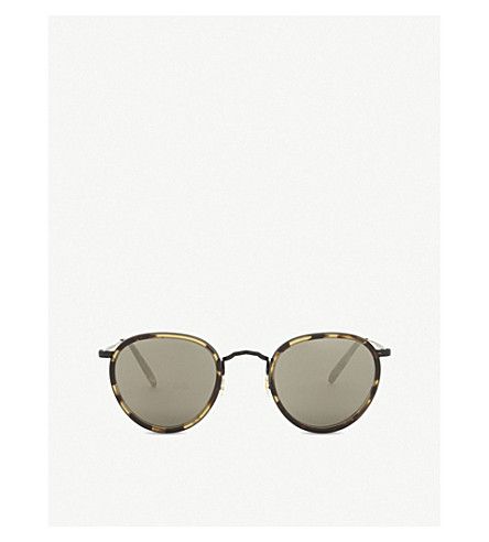 OLIVER PEOPLES Ov1104s oval-frame sunglasses (Brown
