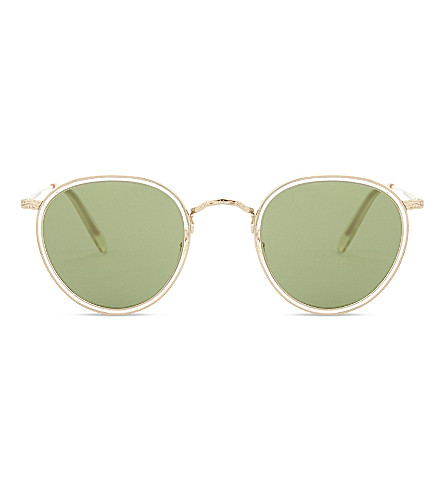 OLIVER PEOPLES Ov1104s round-frame sunglasses (Gold