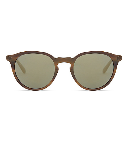 OLIVER PEOPLES OV5353SQ Phantos round-frame mirror lenses sunglasses (Tobacco