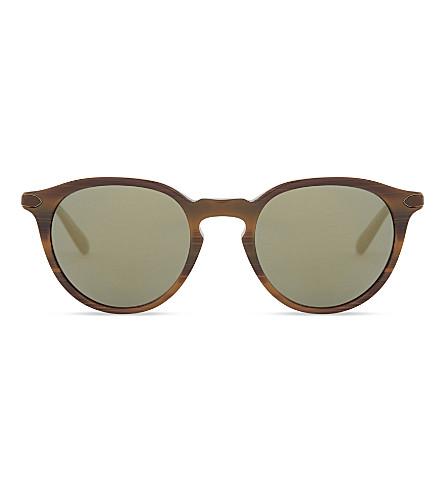 OLIVER PEOPLES OV5353SQ Phantos round-frame mirror lenses sunglasses (Tobacco