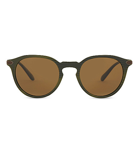 OLIVER PEOPLES Pour Berluti OV5353 Rue Marbeuf round-frame sunglasses (Black+green