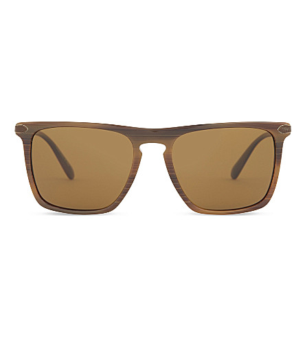 OLIVER PEOPLES Pour Berluti OV5354 Rue de Sèvres square-frame sunglasses (Tobacco