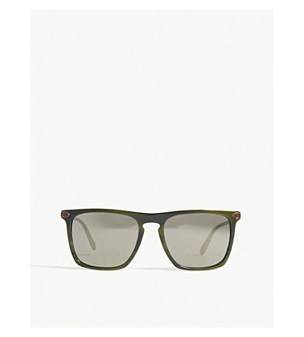 OLIVER PEOPLES Ov5354 Rue de Sèvres square-frame sunglasses (Black+green
