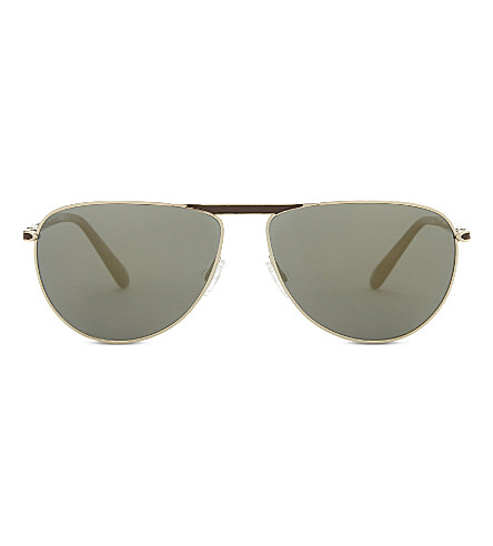 OLIVER PEOPLES Conduit St 0V1213SQ pilot sunglasses (Gold