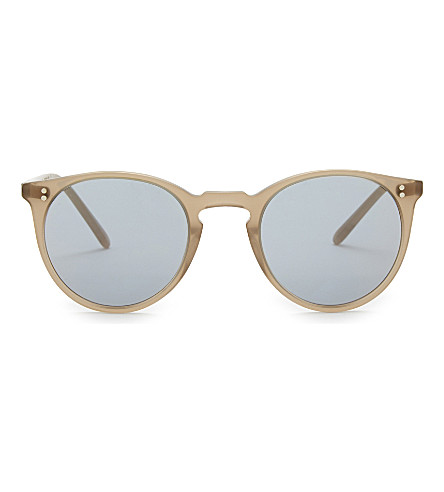 OLIVER PEOPLES Ov5183 The Row 圆形框架太阳镜 (棕色