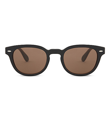 OLIVER PEOPLES OV5036SQ Phantos round-frame sunglasses (Tobacco