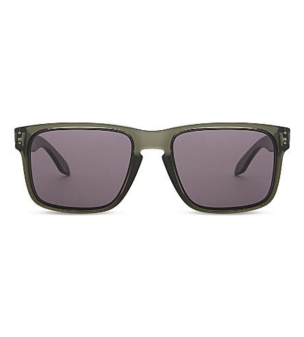 OAKLEY Holbrook square-frame sunglasses (Olive+ink