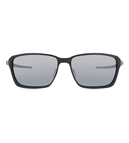 OAKLEY OO6017 Satin rectangle sunglasses (Satin+black