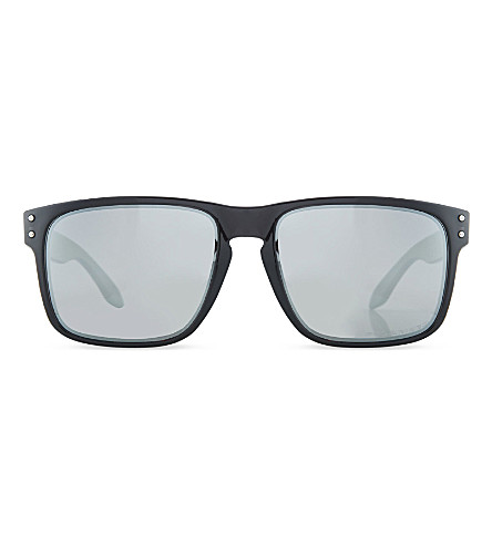 OAKLEY Mirrored square sunglasses (Black+ink