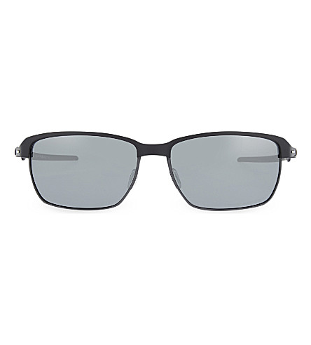 OAKLEY OO6018 Satin rectangle sunglasses (Satin+black