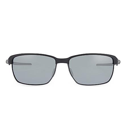 OAKLEY OO6018 缎布矩形太阳镜 (缎 + 黑色