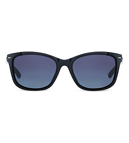 OAKLEY OO9232 rectangular sunglasses (Polished+black