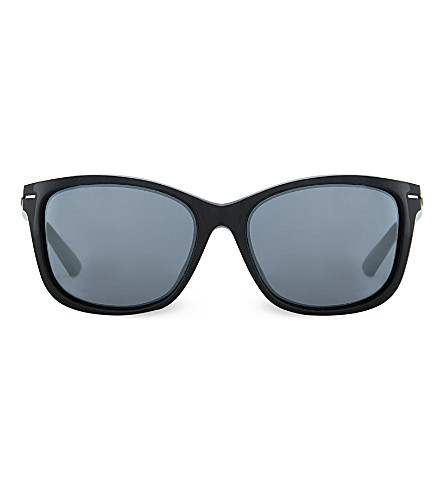 OAKLEY OO9232 polished black cat-eye sunglasses (Polished+black