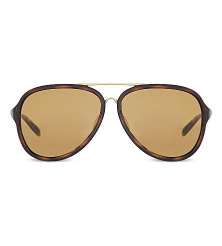OAKLEY Kickback™ pilot sunglasses (Satin+gold/tortoise
