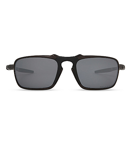 OAKLEY Oo6020 rectangle-frame sunglasses (Dark+carbon