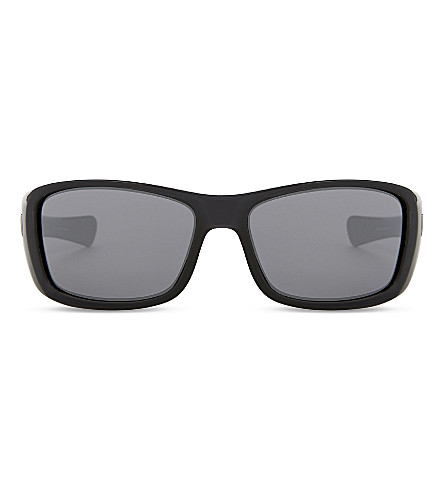OAKLEY Turbine wrap-around sunglasses (Polished+black