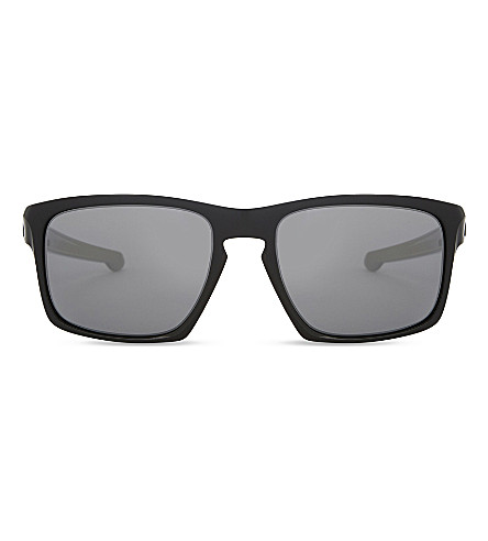 OAKLEY Sliver polarised square-frame sunglasses (Polished+black