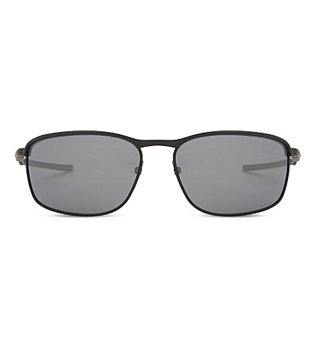 OAKLEY 0Oo4107 Conductor 8 rectangle-frame polarized sunglasses (Matte+black
