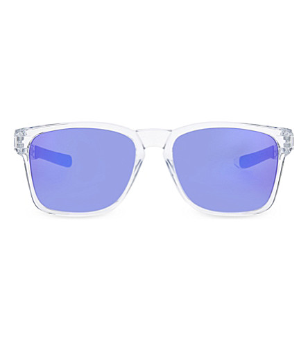 OAKLEY OO9272 Polished clear rectangle sunglasses (Polished+clear