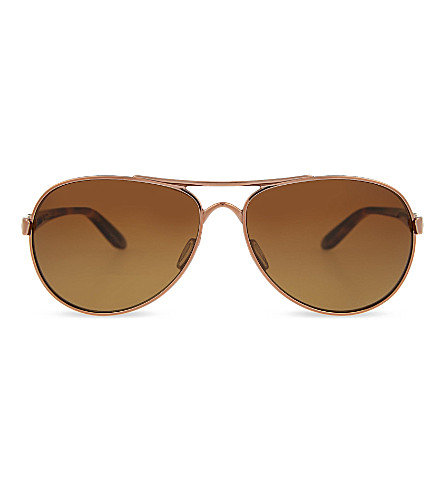 OAKLEY Feedback aviator sunglasses (Rose+gold