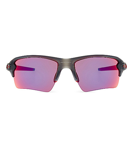 OAKLEY Flak 2.0 XL PRIZM Road wrap-around sunglasses (Matte+grey+smoke