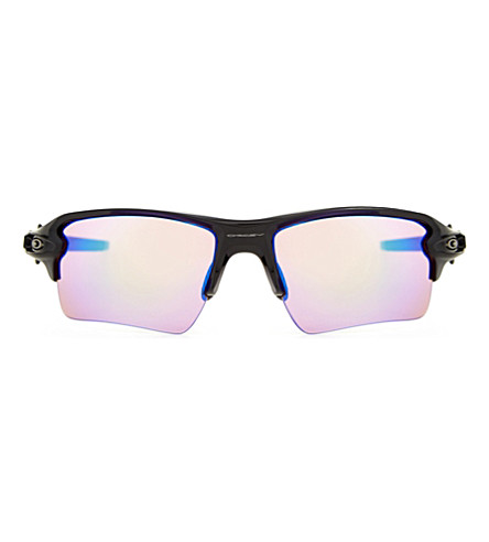 OAKLEY OO9188 Flak 2.0 XL square-frame sunglasses (Polished+black