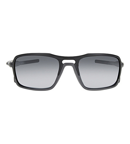 OAKLEY Oo9266 triggerman rectangle-frama sunglasses (Matte+black