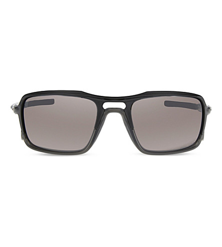 OAKLEY OO9266 Triggerman rectangle-frame sunglasses (Polished+black