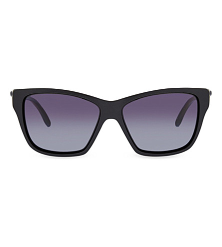 OAKLEY OO9298 Polished black irregular sunglasses (Polished+black