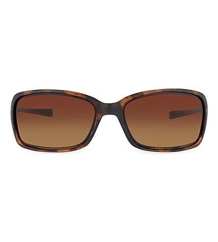 OAKLEY OO9298 Tortoise irregular sunglasses (Tortoise
