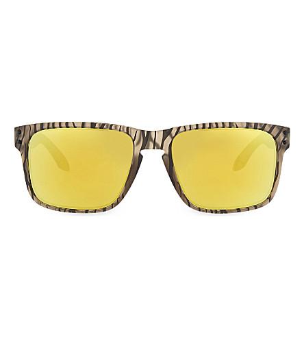 OAKLEY OO9102 Matte sepia square sunglasses (Matte+sepia