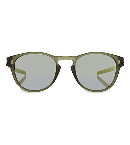 OAKLEY OO9265-05 mirrored oval sunglasses (Matte+olive+ink