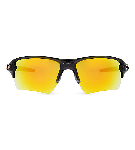 OAKLEY Flak 2.0 XL Team Color wrap-around sunglasses (Polished+black
