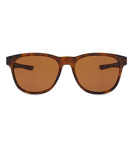 OAKLEY Stringer OO9315-02 tortoiseshell round-frame sunglasses (Matte+brown+tortoise