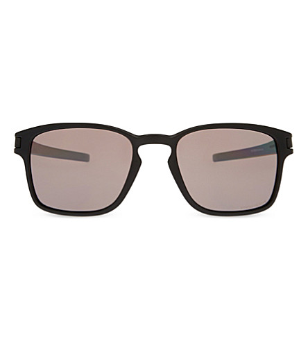 OAKLEY OO9353 Latch square-frame sunglasses (Matte+black