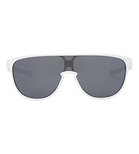 OAKLEY Oo9318 rectangle-frame sunglasses (White