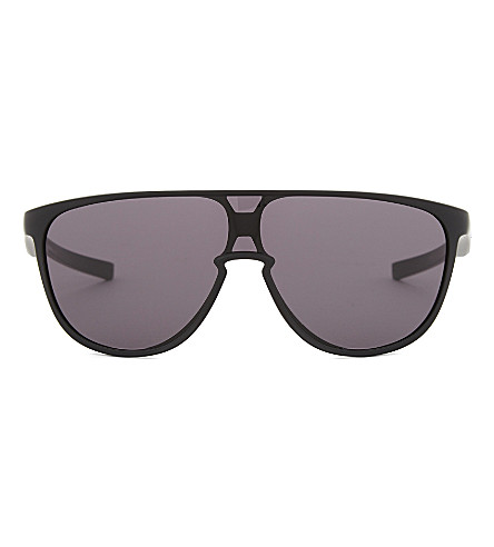 OAKLEY Oo9318 rectangle-frame sunglasses (Black